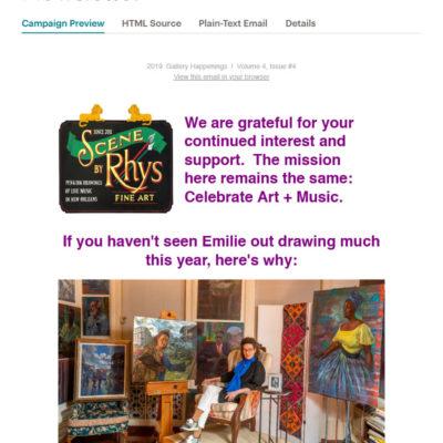 Exhibition Update Newsletter