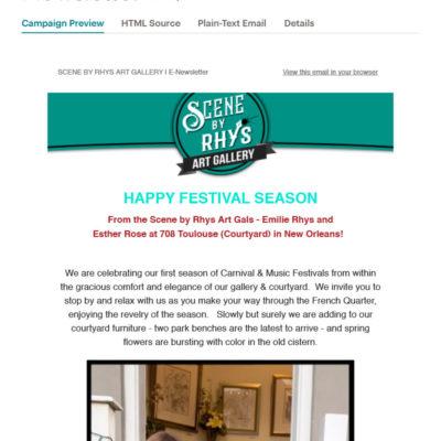 Scene By Rhys Art Gallery Newsletter #2